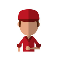Man avatar wearing hat or cap icon image vector