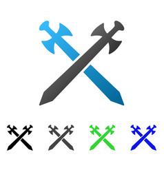 medieval swords flat gradient icon vector image vector image