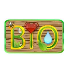 nature bio symbol vector image