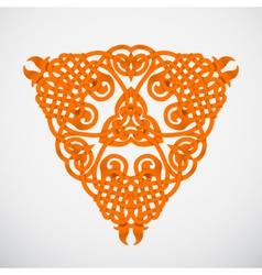 Orange native ornament vector