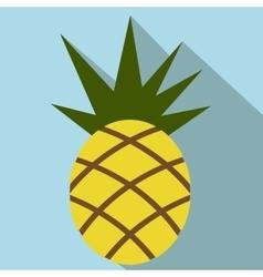 Pineapple flat icon vector