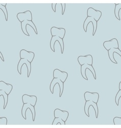 seamless teeth pattern on blue background vector image