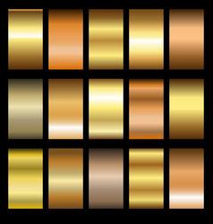 Set gold gradients vector