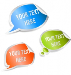 set of speech bubble stickers vector image vector image
