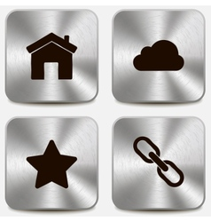 Set of web icons on metallic buttons vol2 vector image