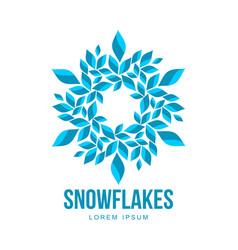 Snowflake logo vector