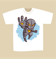 t-shirt print design superhero vector image