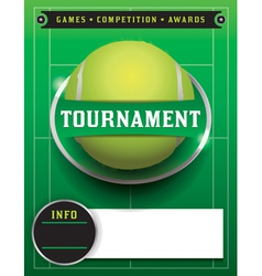 Tennis tournament template vector