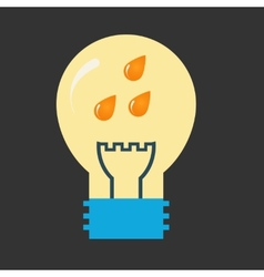 Three drops inside bulb vector image