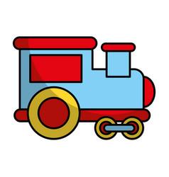 Train vehicle isolated icon vector