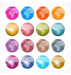 World Globe Icons Set vector image