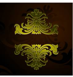 gold decorative vintage ornate banner vector image