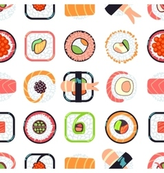 Japanese food sushi seamless pattern vector