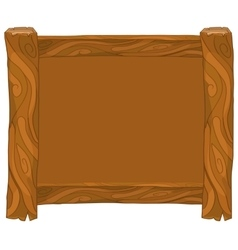 Light brown wooden frame on white background vector image