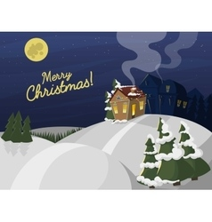 Merry Christmas street card vector image