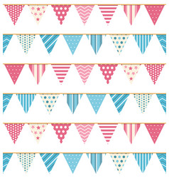 bunting seampless pattern vector image
