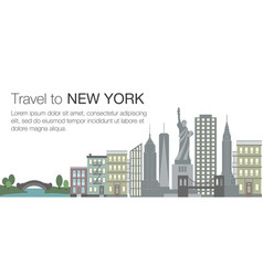 new york flat banner vector image