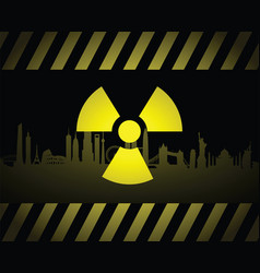 Radioactive cityscape sign vector