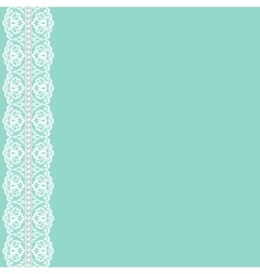 lace ribbon and pearls vector image