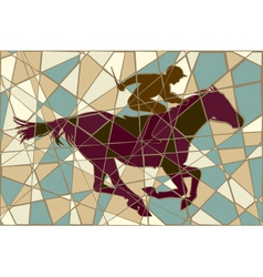 Racing horse mosaic vector
