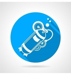 Aqualung blue round icon vector
