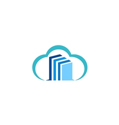 Cloud data technology logo vector