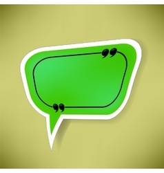 Green Paper Speech Bubble vector image