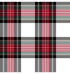Dress stewart tartan fabric texture seamless vector