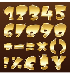 gold numbers vector image