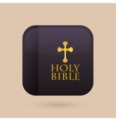 Holy bible design vector