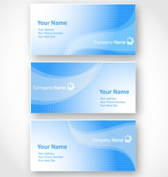 Set of templates for business cards vector