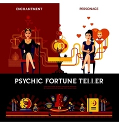 Psychic fortune teller concept vector