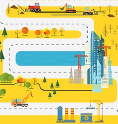 Modern city flat design vector