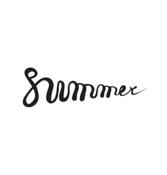 Summer quote brush pen handwritten vector