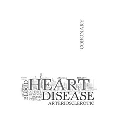 Arteriosclerotic heart disease text background vector