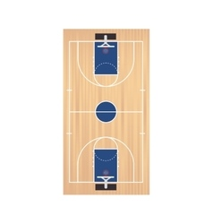 Basketball court top vector