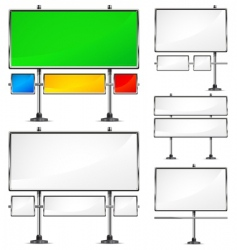 color billboards vector image vector image