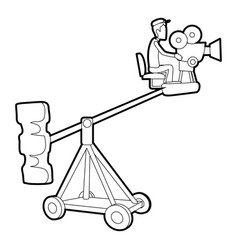Difficult filming icon outline style vector