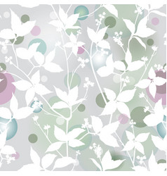 Floral pattern leaves seamless background vector
