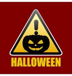 Halloween sign vector image vector image