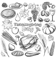 Hand drawn - Thanksgiving day vector image vector image