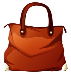 Handbag on white background vector