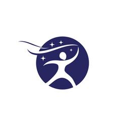 human character logo sign vector image vector image