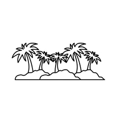 Island palm tree vector image