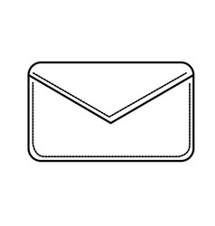 Line nice letter close with important message vector
