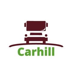 Logo car hill vector