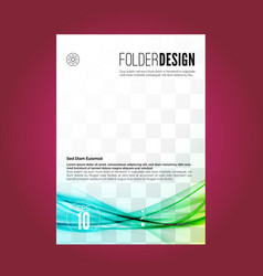 Modern abstract pattern folder design layout vector