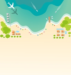 Paradise tropical beach background for summer vector image vector image