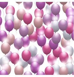 Pink balloons seamless festive pattern vector