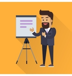 Presentation concept in flat style design vector